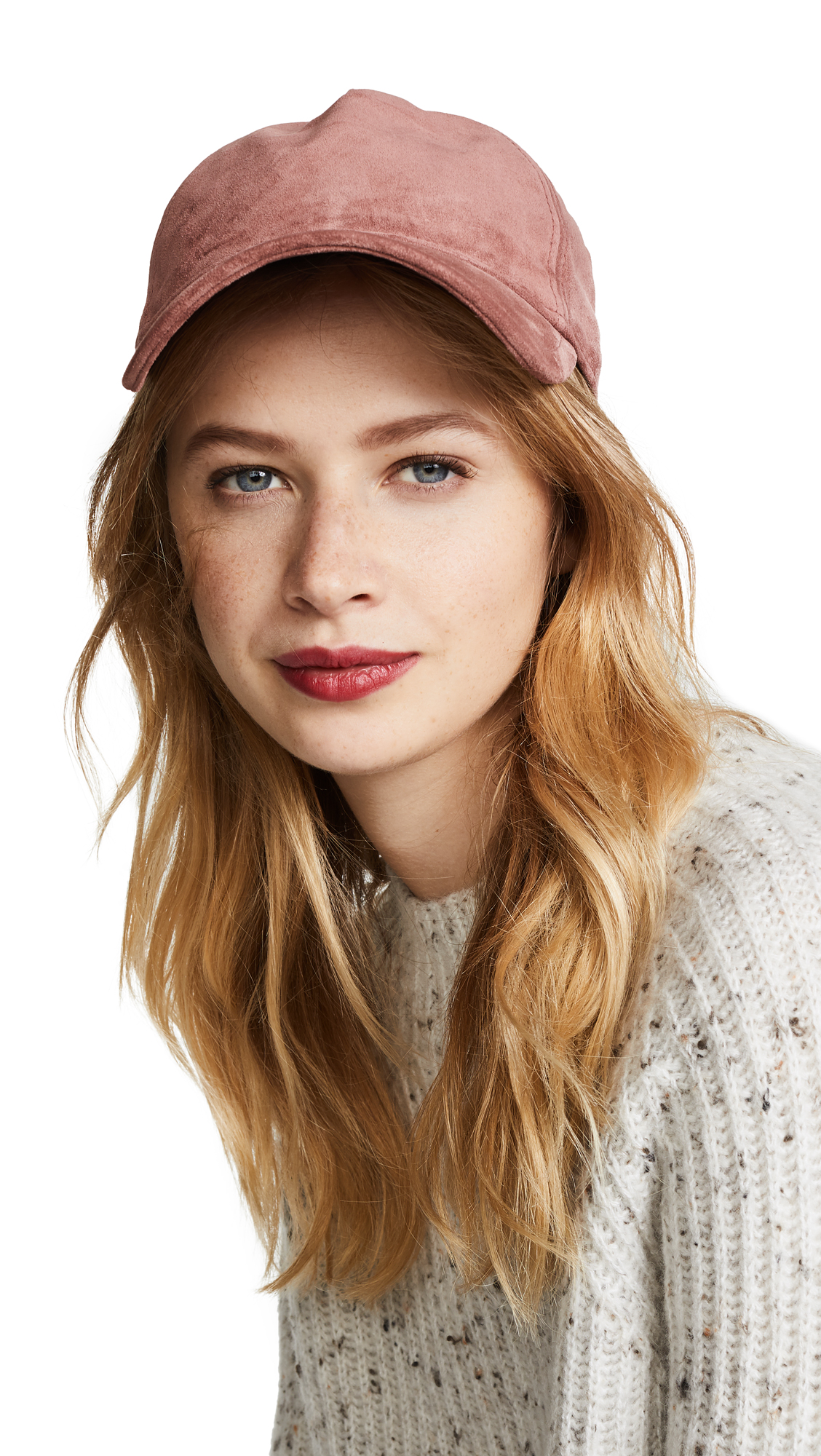 Rag & Bone Marilyn Baseball Cap - Mauve