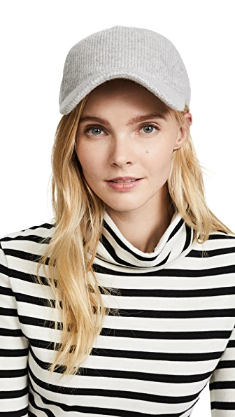 Rag & Bone Marilyn Cashmere Baseball Cap In Grey