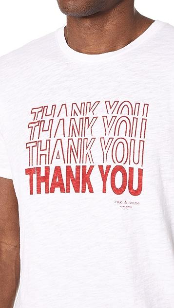 Rag & Bone Thank You Tee