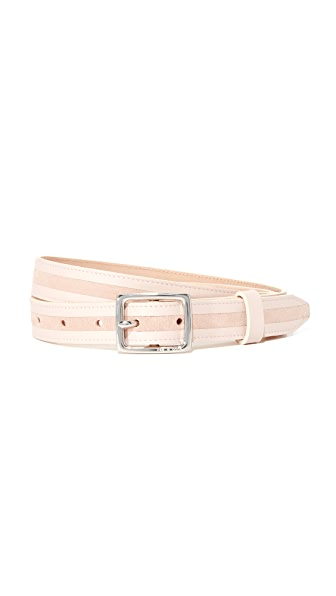 Rag & Bone Dylan Tricolor Belt - Rose Dust