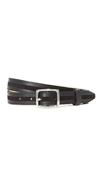 Rag & Bone Dylan Tricolor Belt In Black