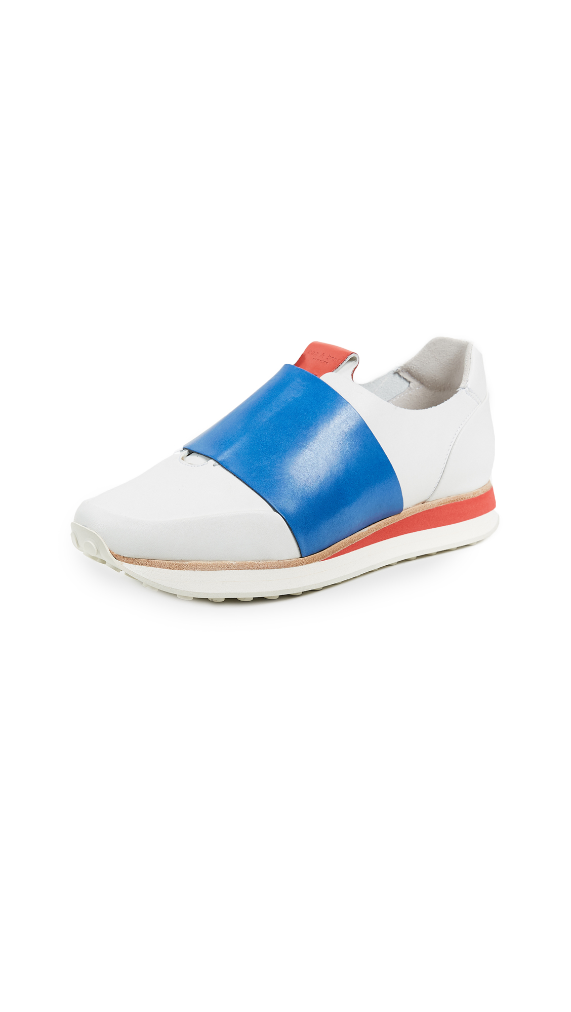 Rag & Bone Dylan Elastic Runners - White/Blue
