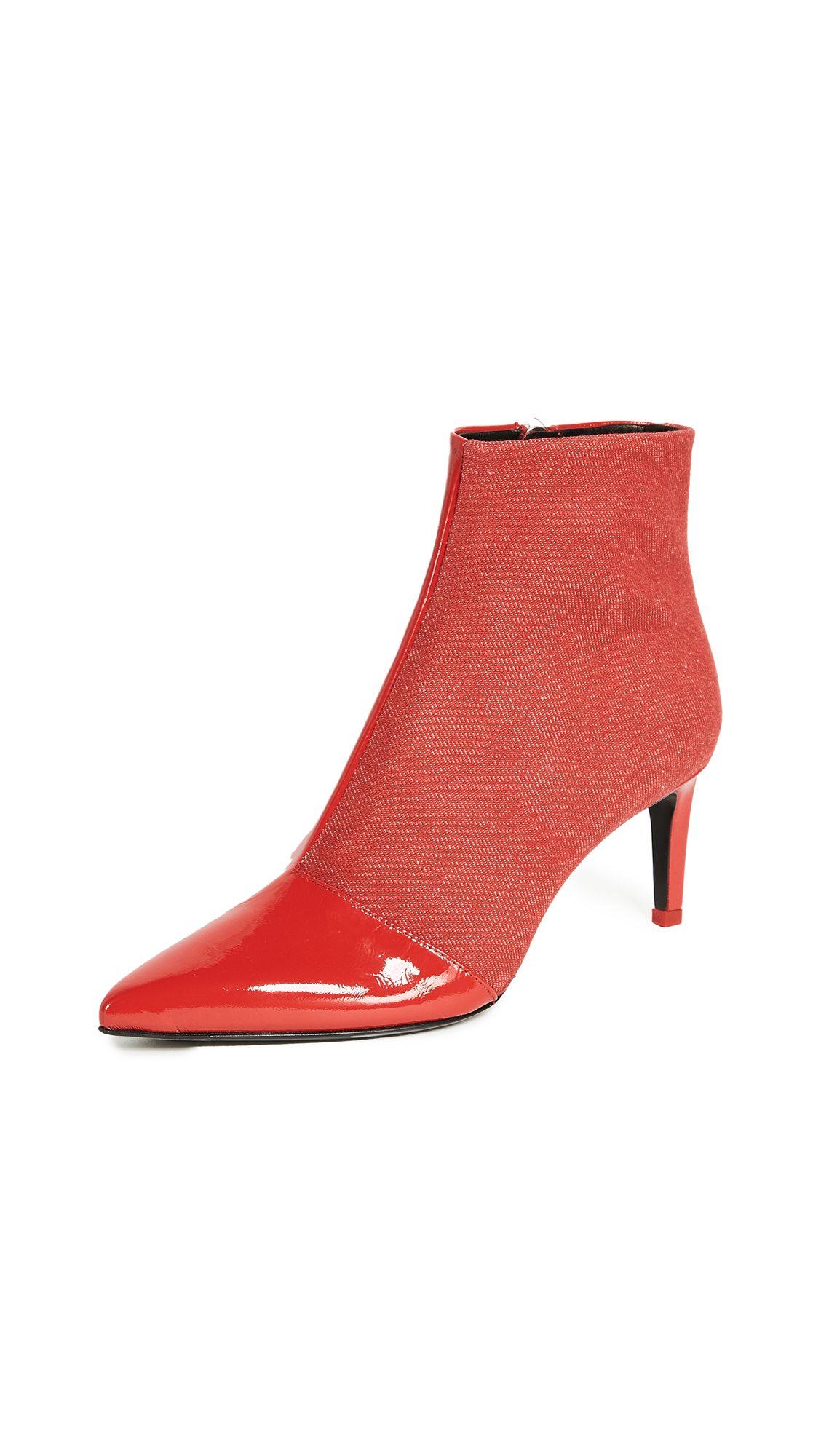 Rag & Bone Beha Booties - Red Denim