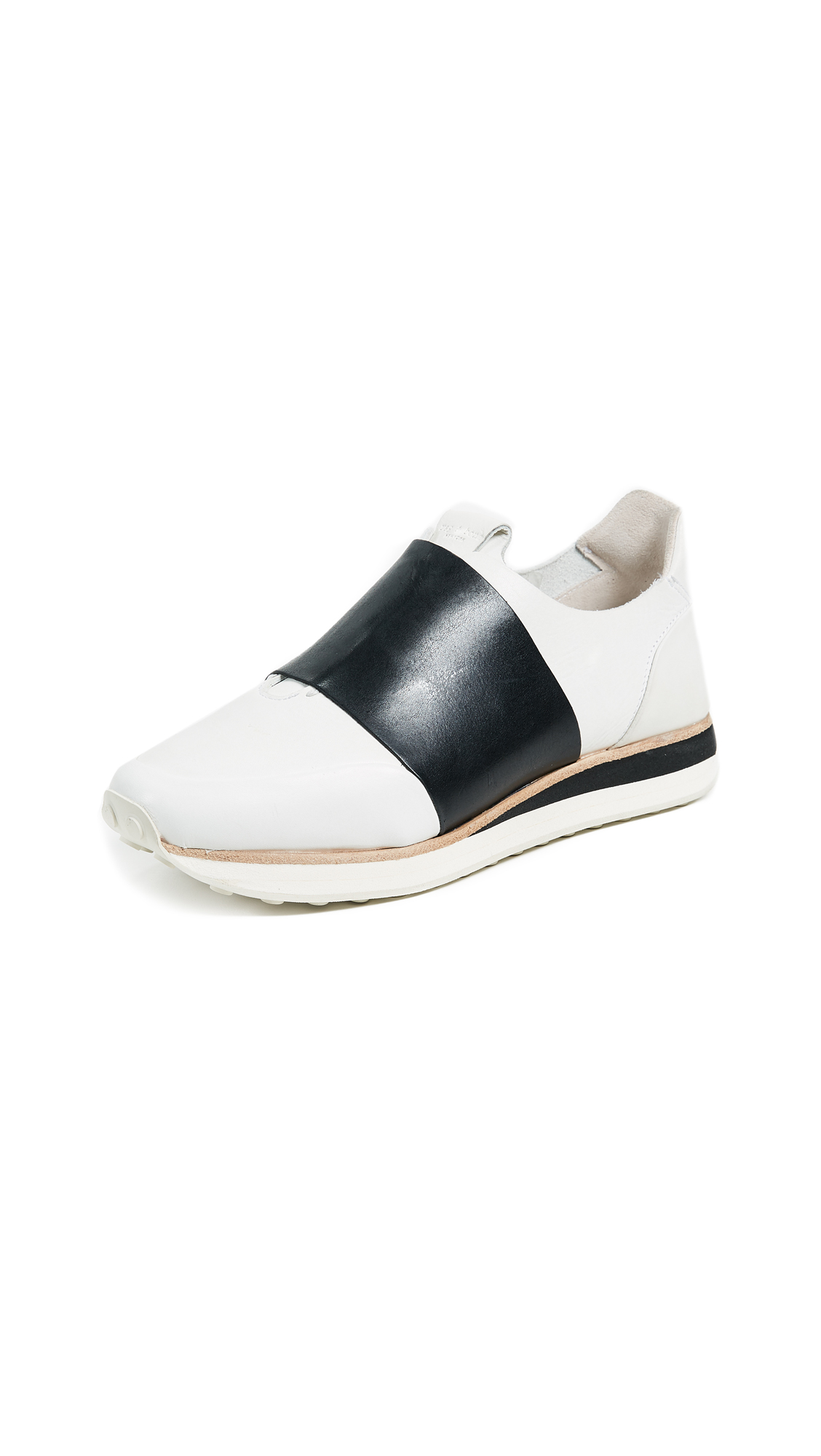 Rag & Bone Dylan Elastic Runners - White/Black