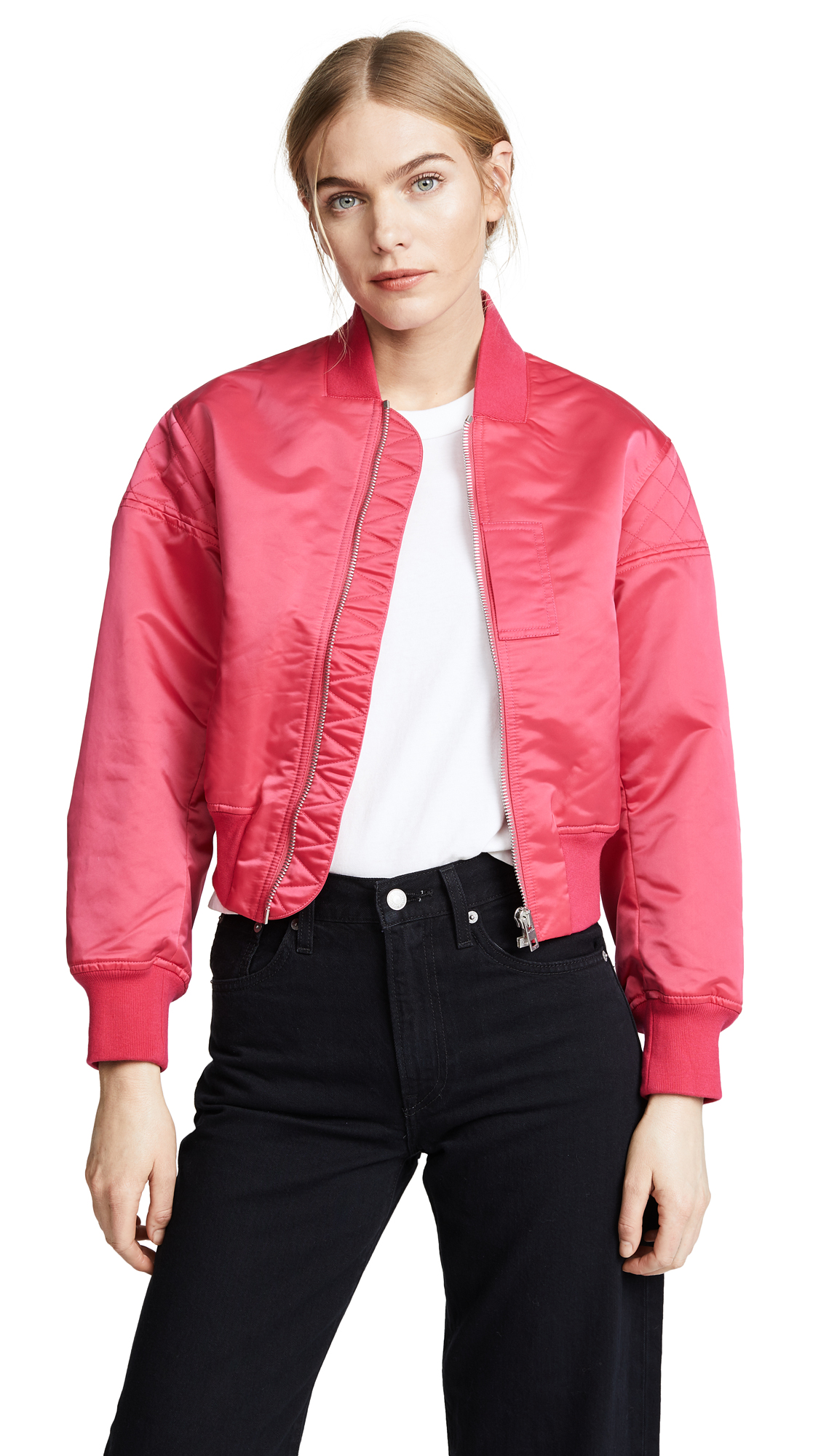 Rag & Bone Wesley Bomber Jacket - Bright Pink