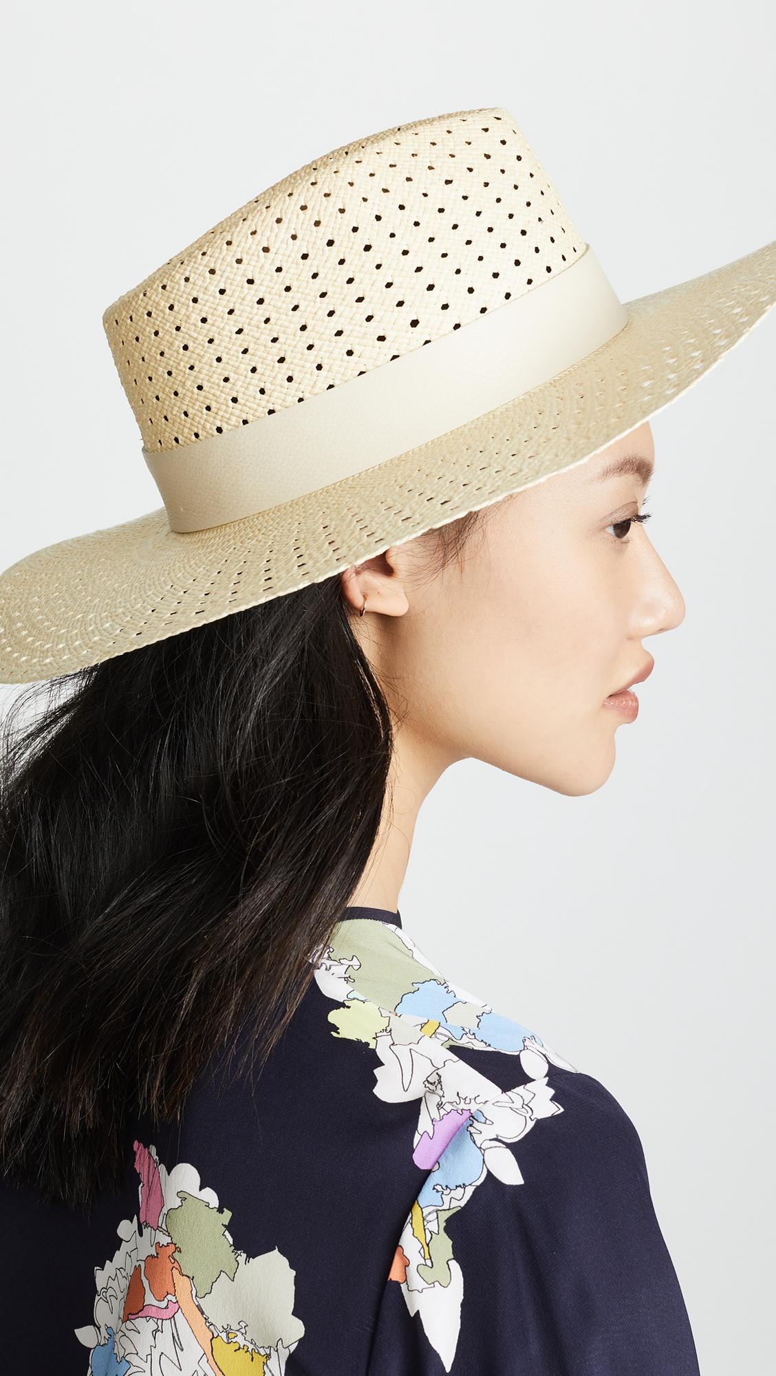Lacey Wide Brim Panama Hat in Beige. - size S/M (also in M/L) Rag & Bone LWqytH