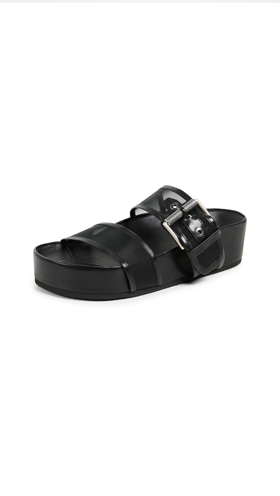 Evin Platform Slide Sandals - Black Size 7
