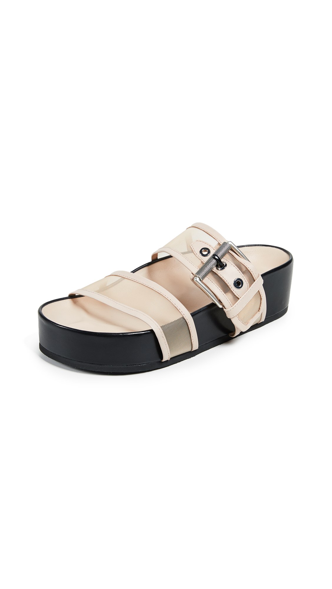 Rag & Bone Evin Platform Slides In Nude