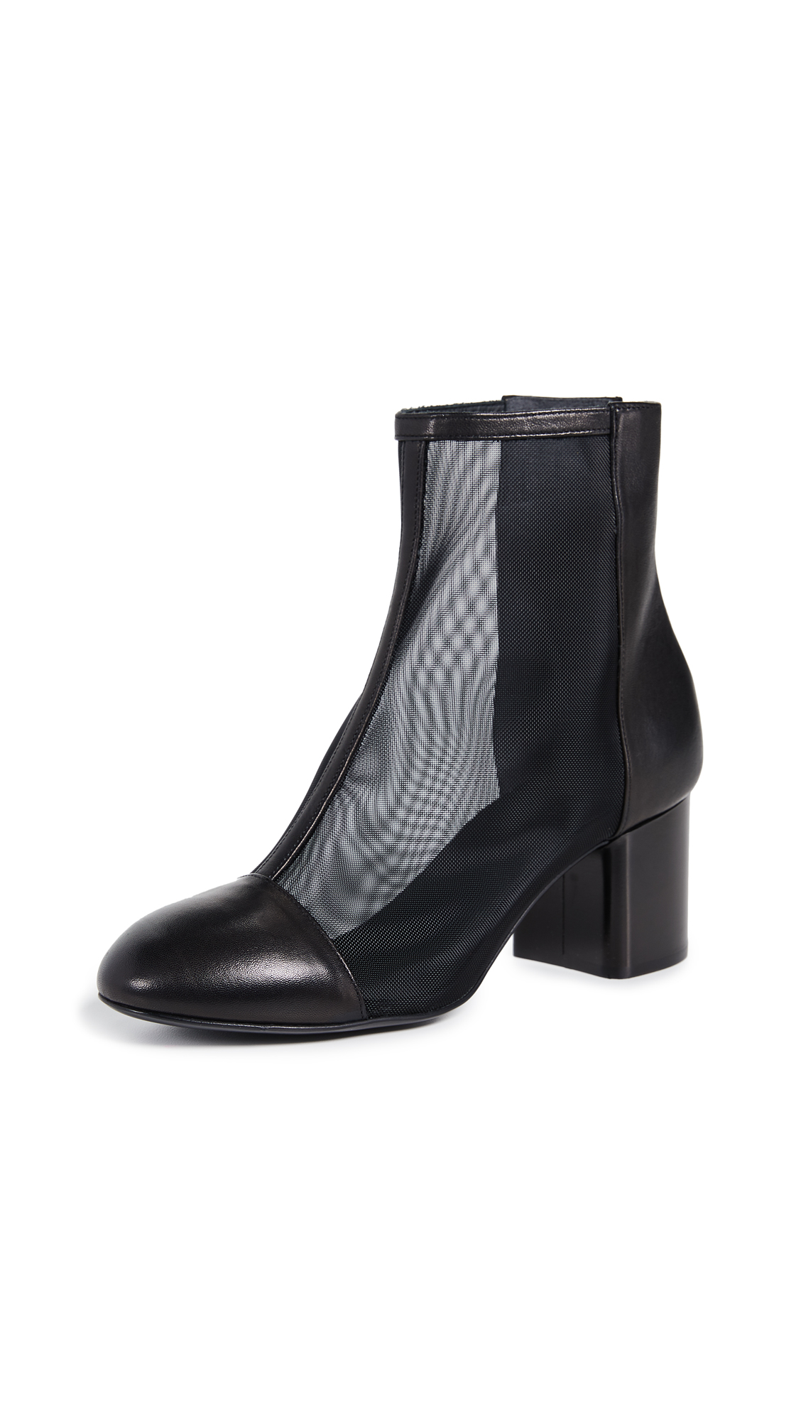 Rag & Bone Drea Mesh Boots In Black