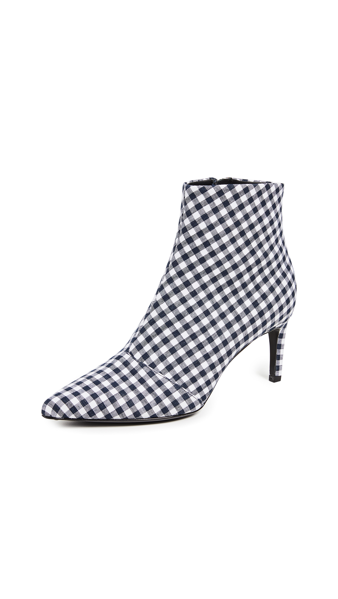 Rag & Bone Beha Booties - Navy Gingham