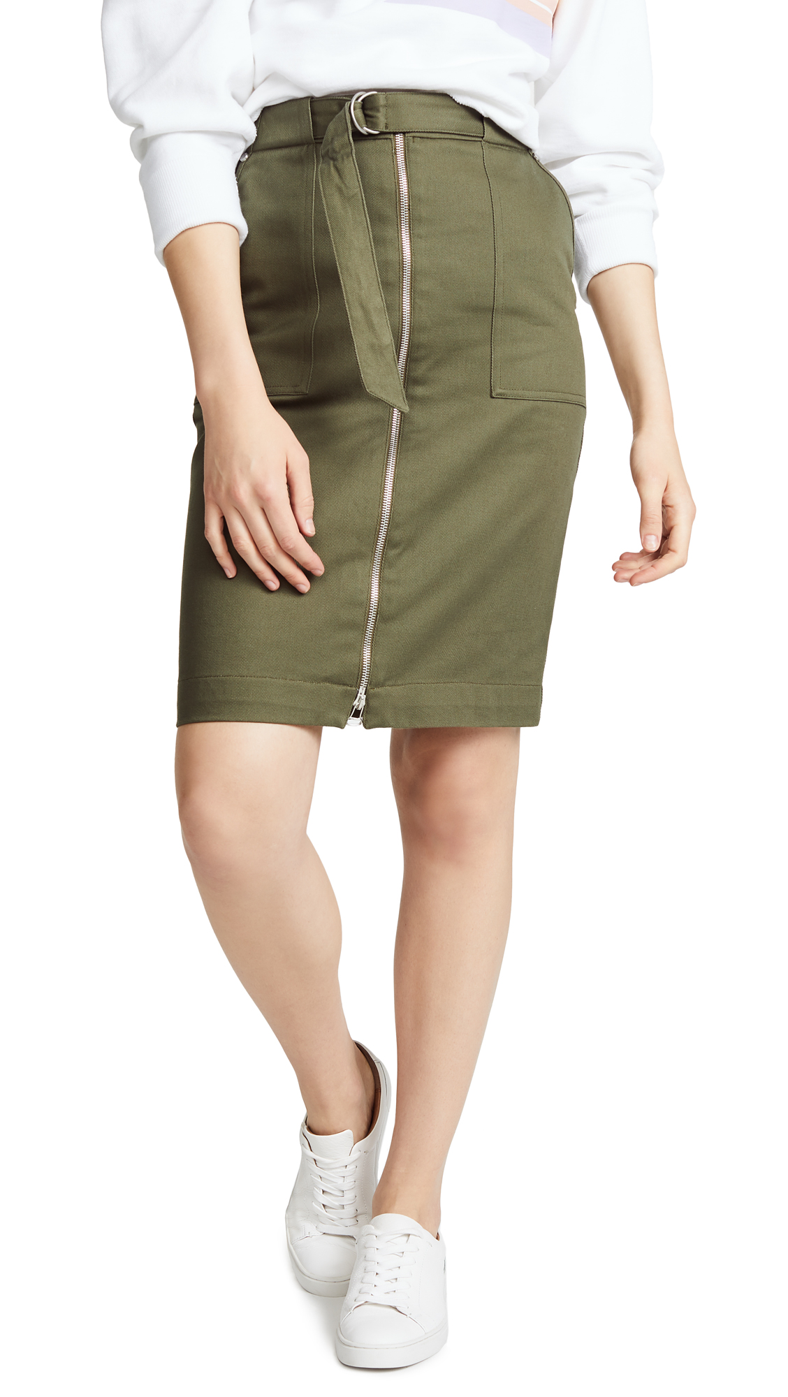 9dad09797644 Rag   Bone Rag And Bone Green Lora Skirt In 308 Drkoliv