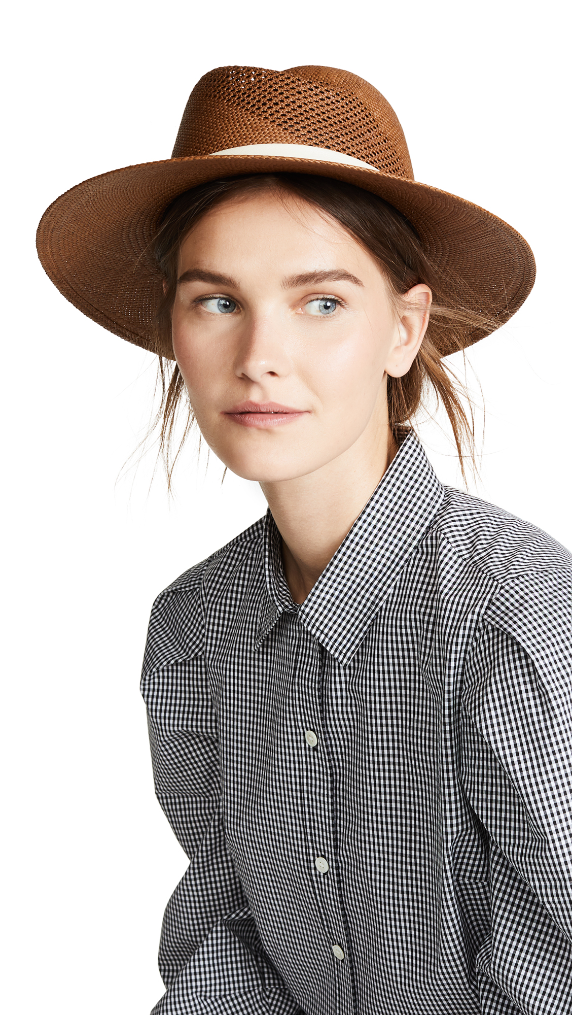 964b88b15b9 Rag   Bone Zoe Straw Fedora In Brown