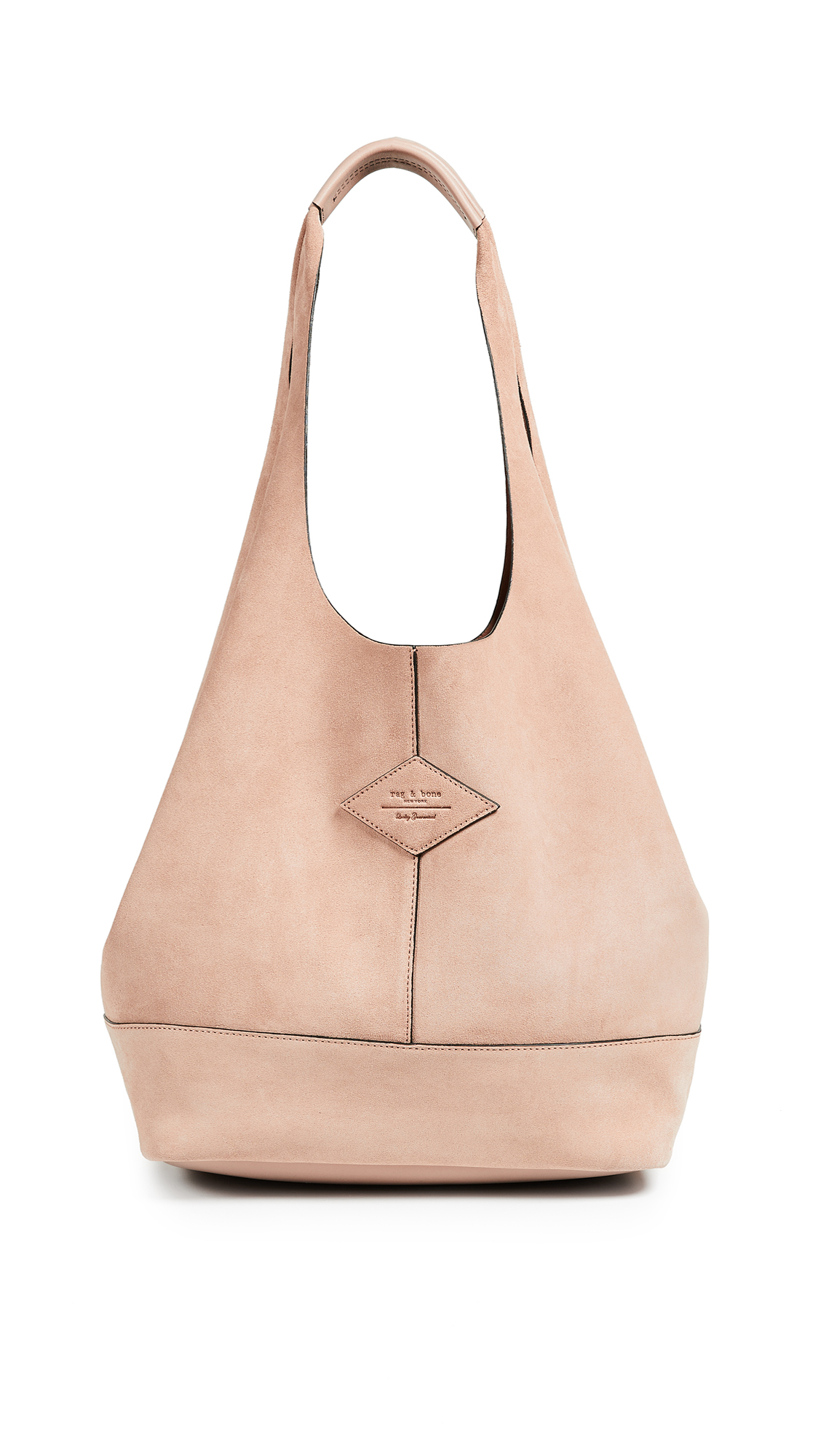 Nude Suede Camden Shoulder Bag