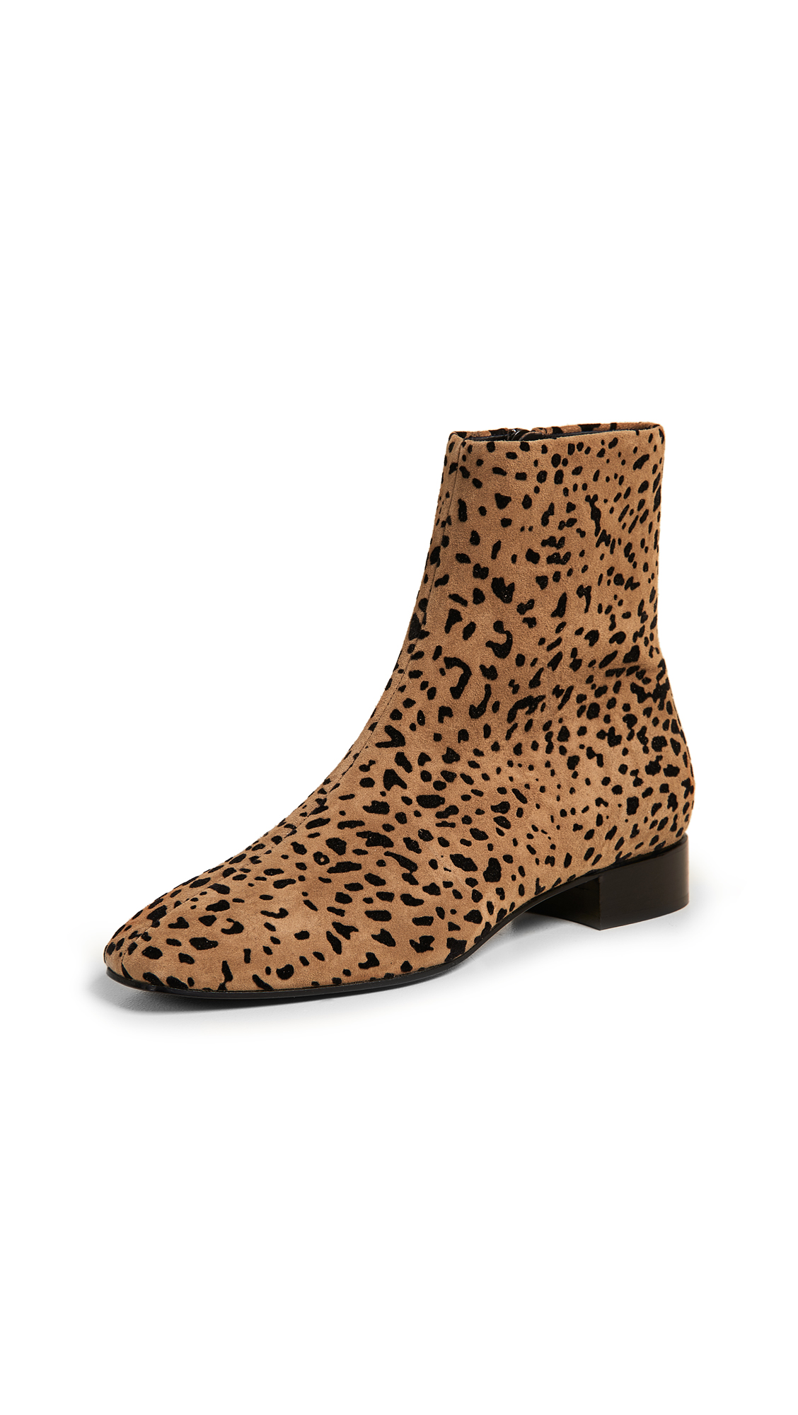 Rag & Bone Aslen Flat Booties - Tan Cheetah