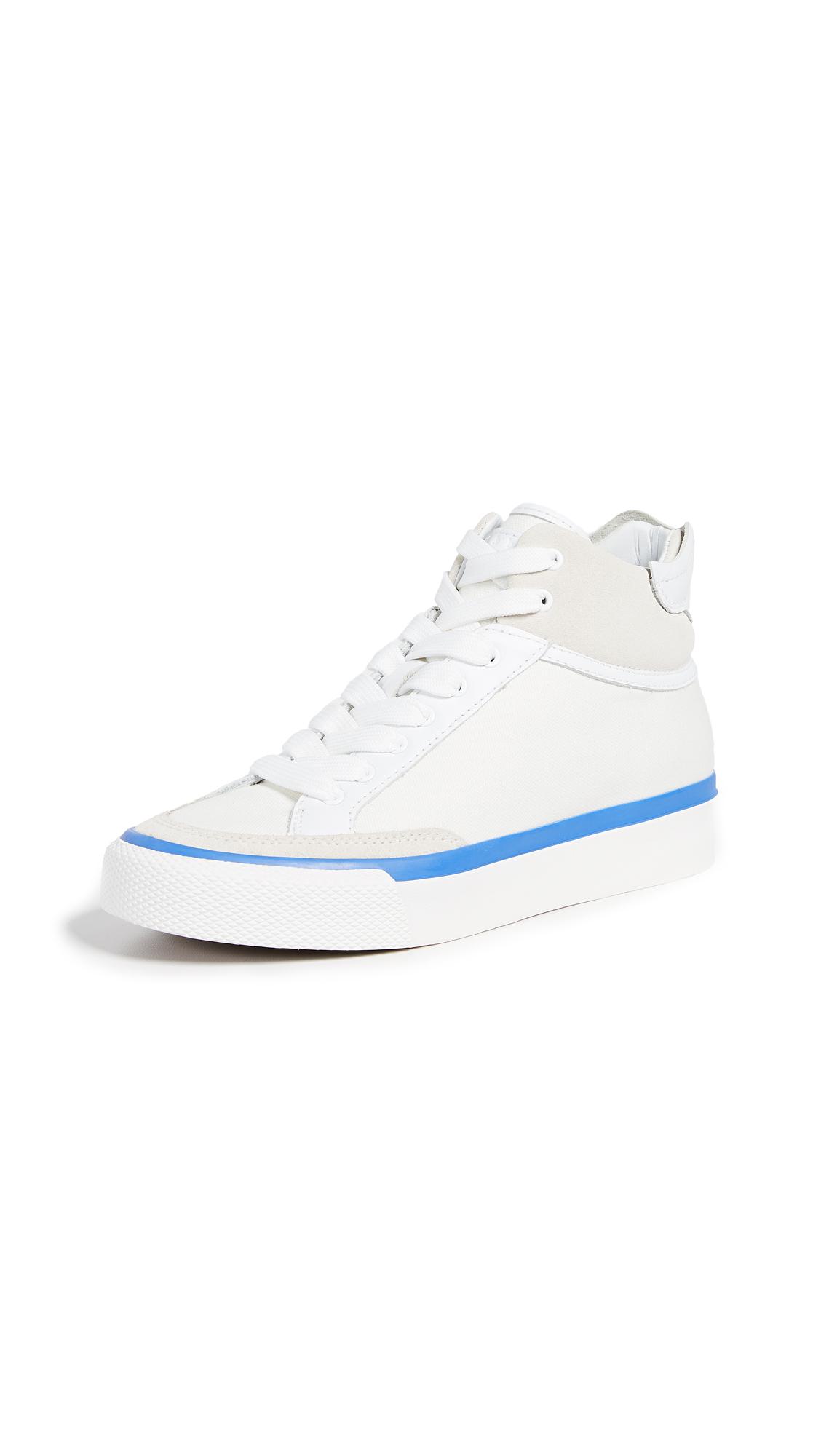 Rag & Bone RB Army High Sneakers - White/Blue