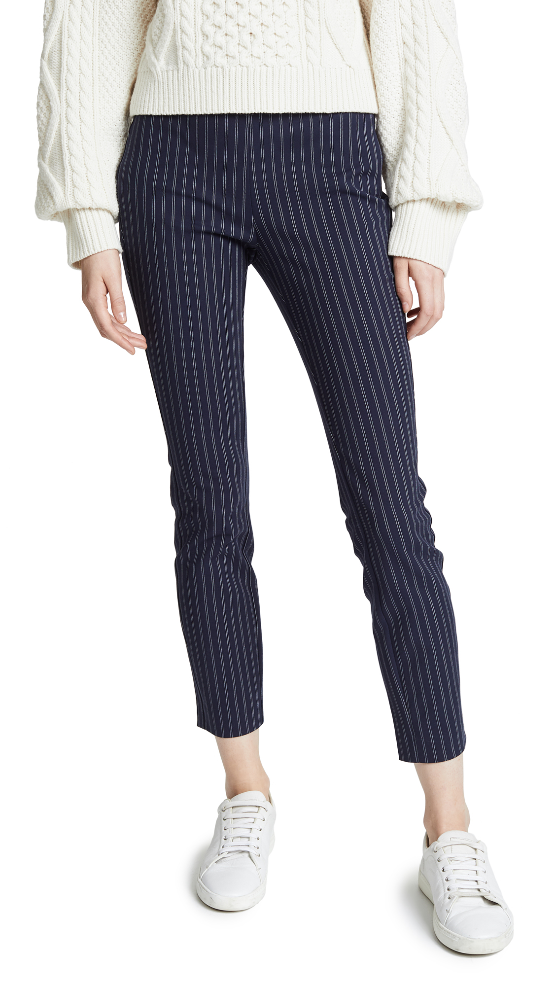 Rag & Bone Simon Pants With Yoke In Navy/White