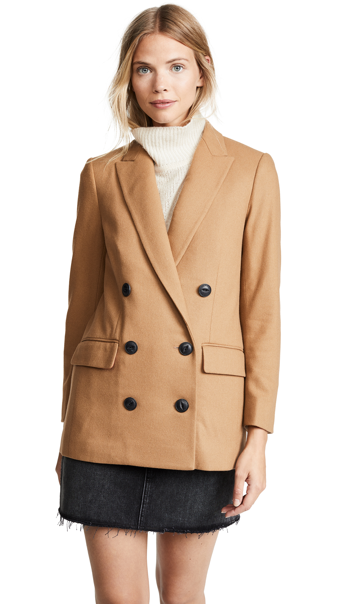 Rag & Bone Ellie Blazer In Dark Camel