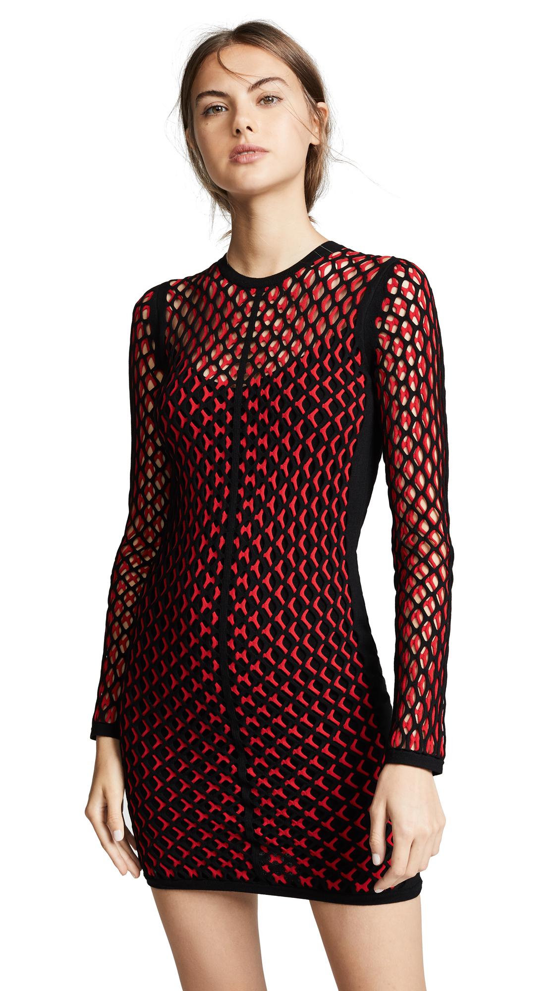 Rag & Bone Wes Dress In Red/Black