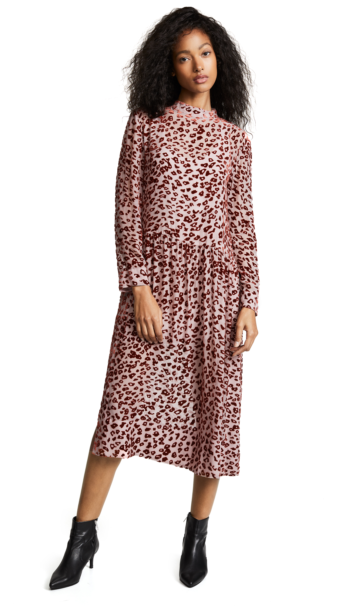 Rag & Bone Gia Dress - Pink/Rust