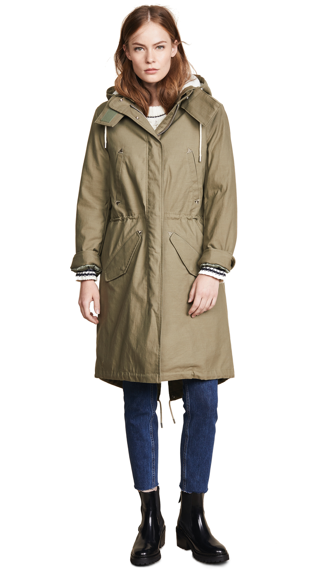 Rag & Bone Penelope Parka In Light Green