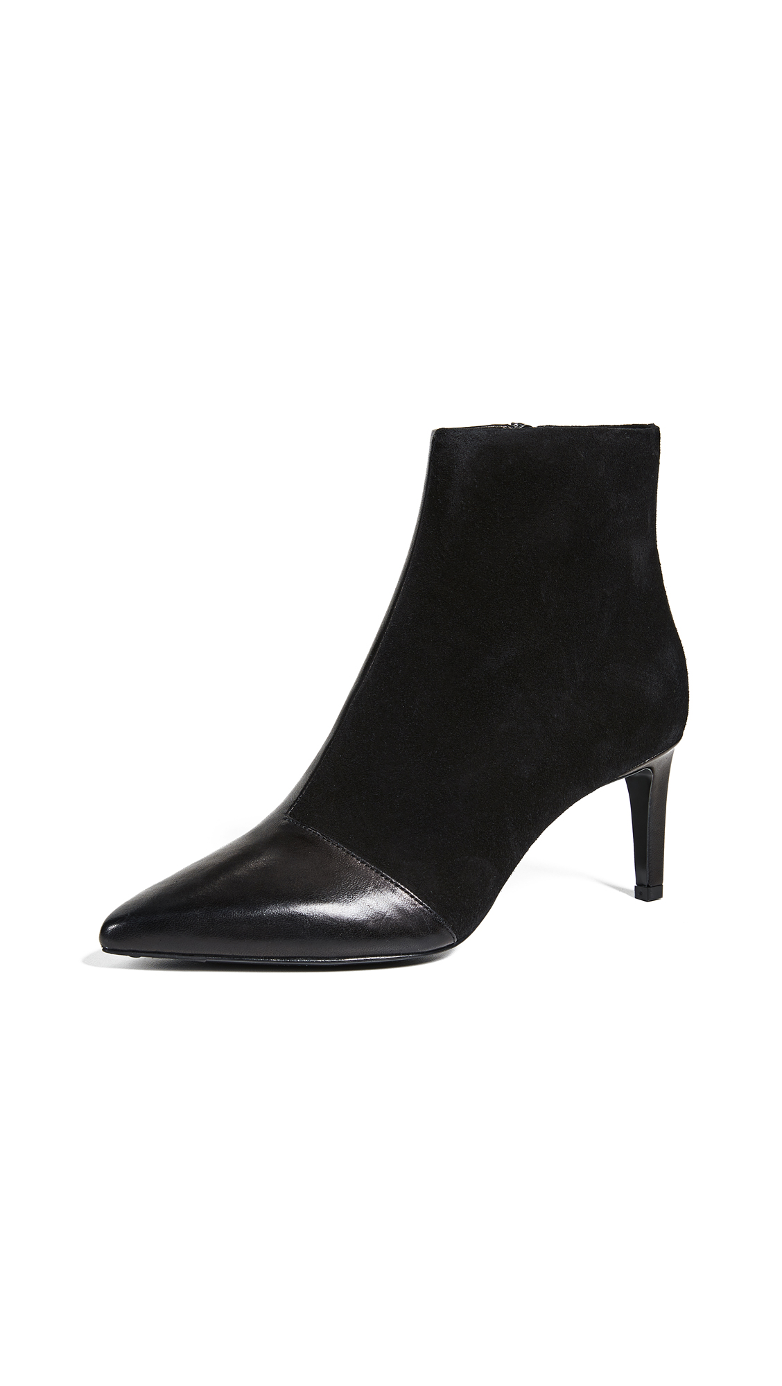 Rag & Bone Beha Leather & Suede Ankle Boots - Black Size 6