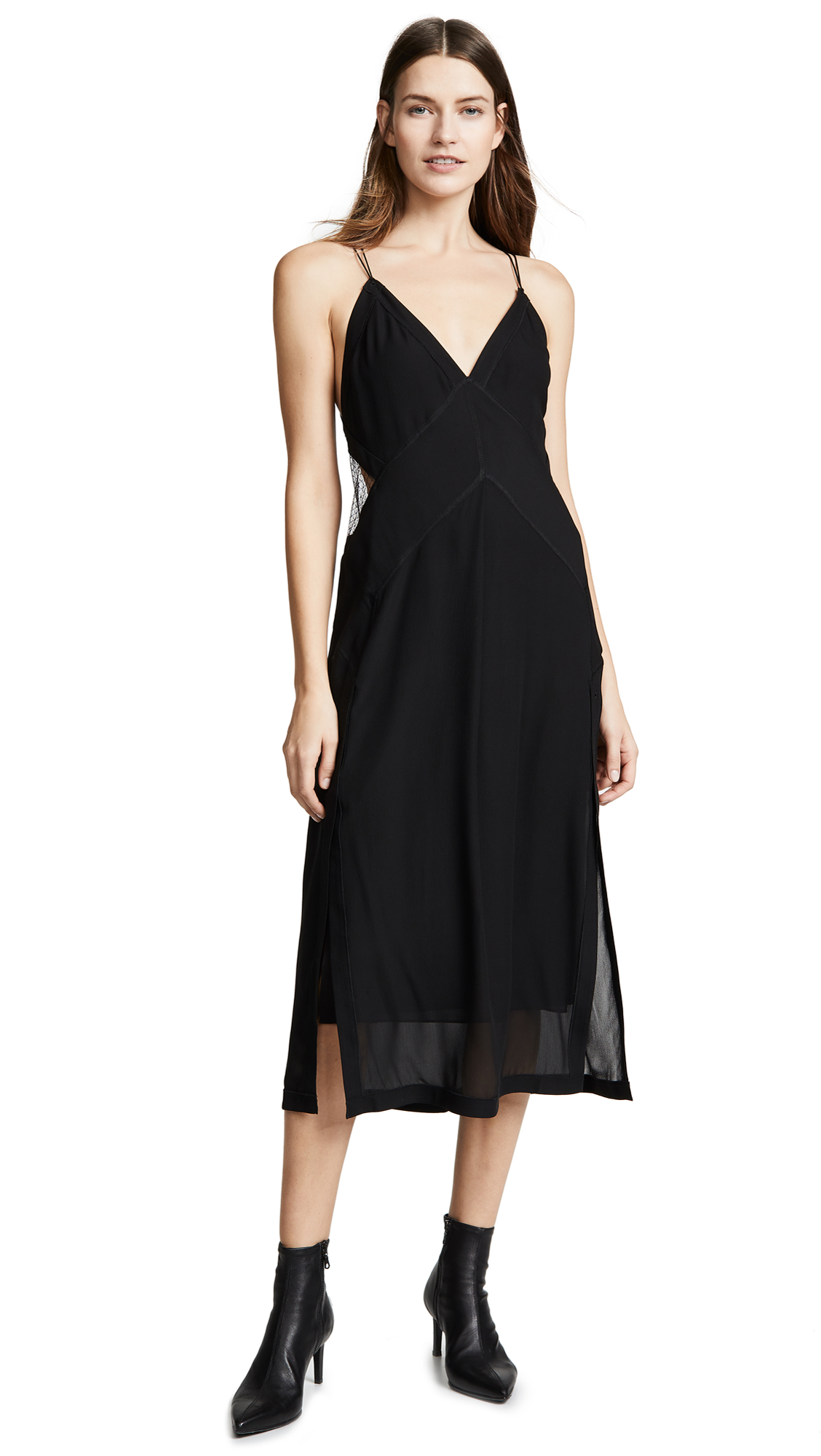 Rag & Bone Anais Silk Dress - Black