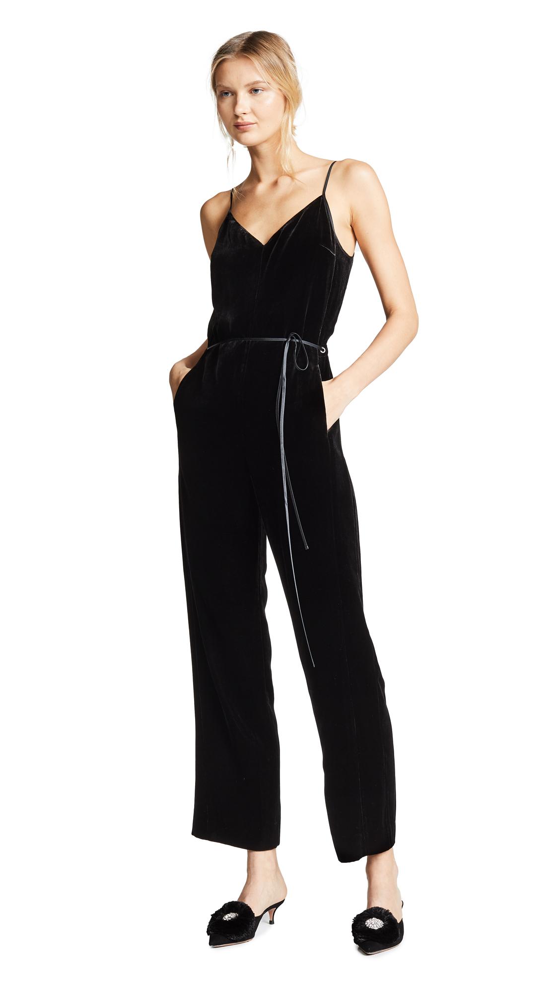 Jamie Velvet Jumpsuit - Black Size 8