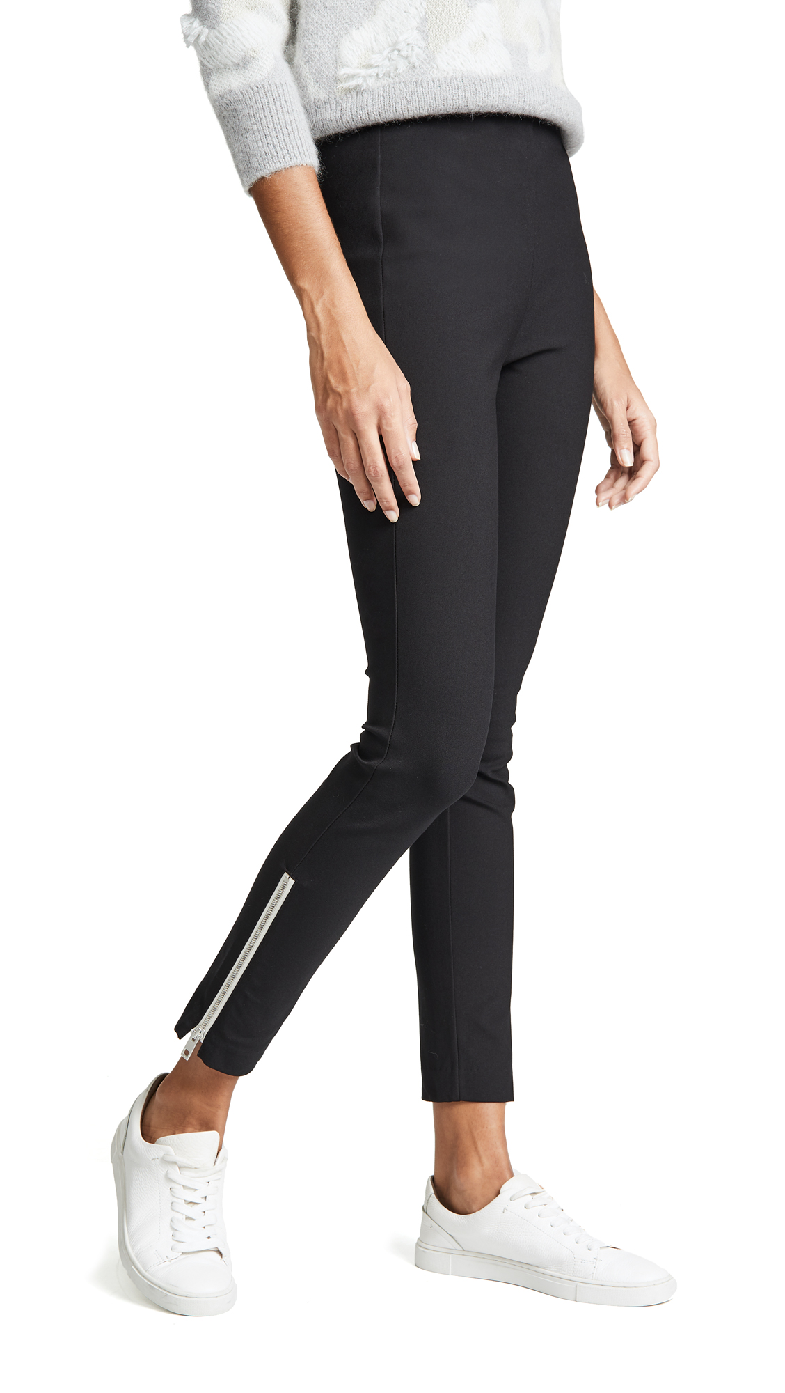 Rag & Bone Simone Zipper Pants In Black