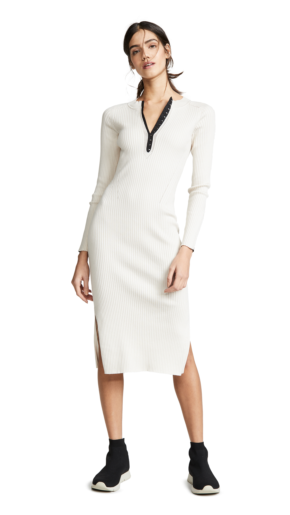 Rag & Bone Brynn Rib Dress - Ecru