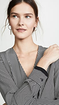 랙앤본 블라우스 Rag & Bone Victor Blouse,White/Black Stripe