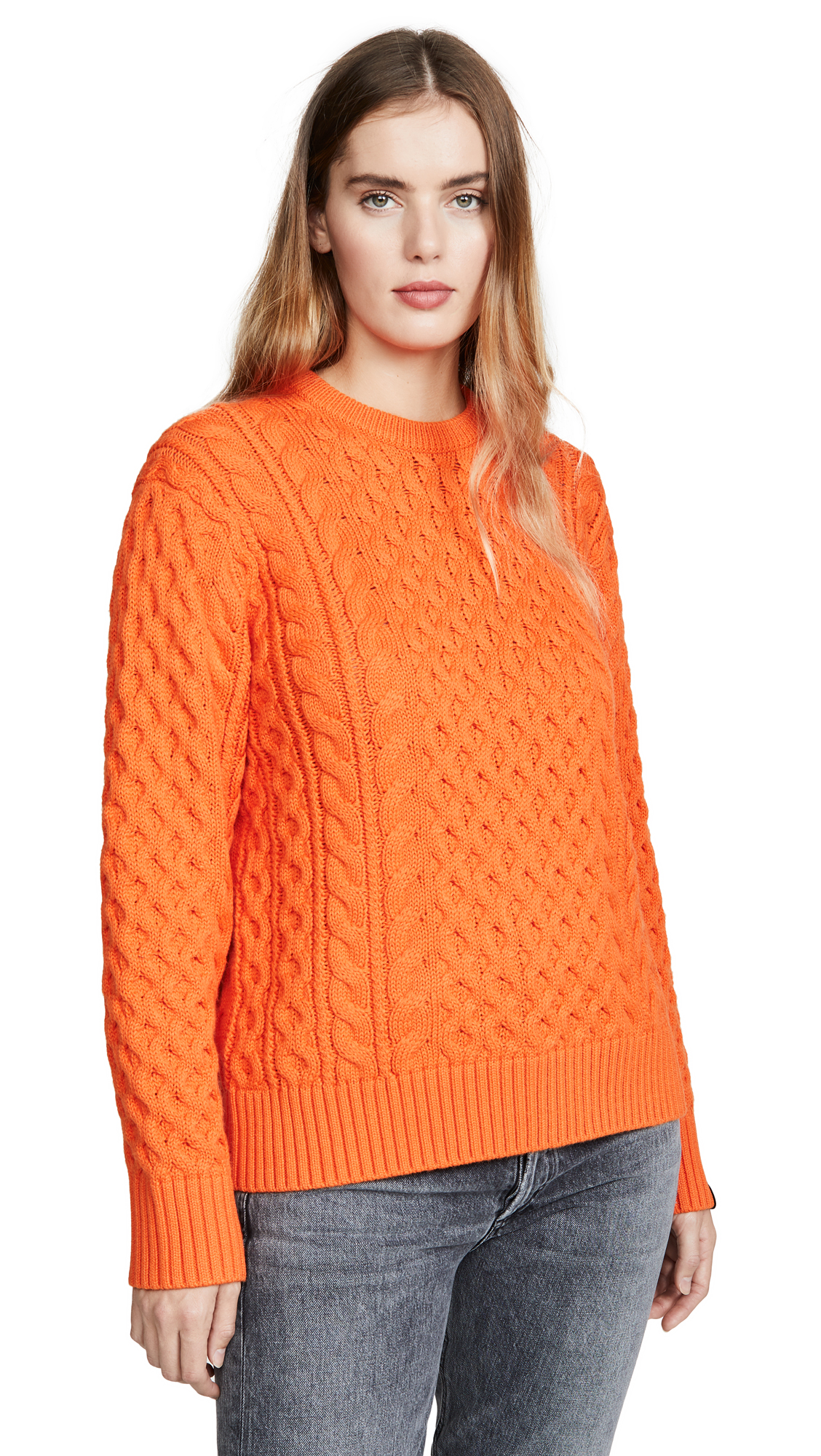 Buy Rag & Bone online - photo of Rag & Bone Aran Crew Sweater