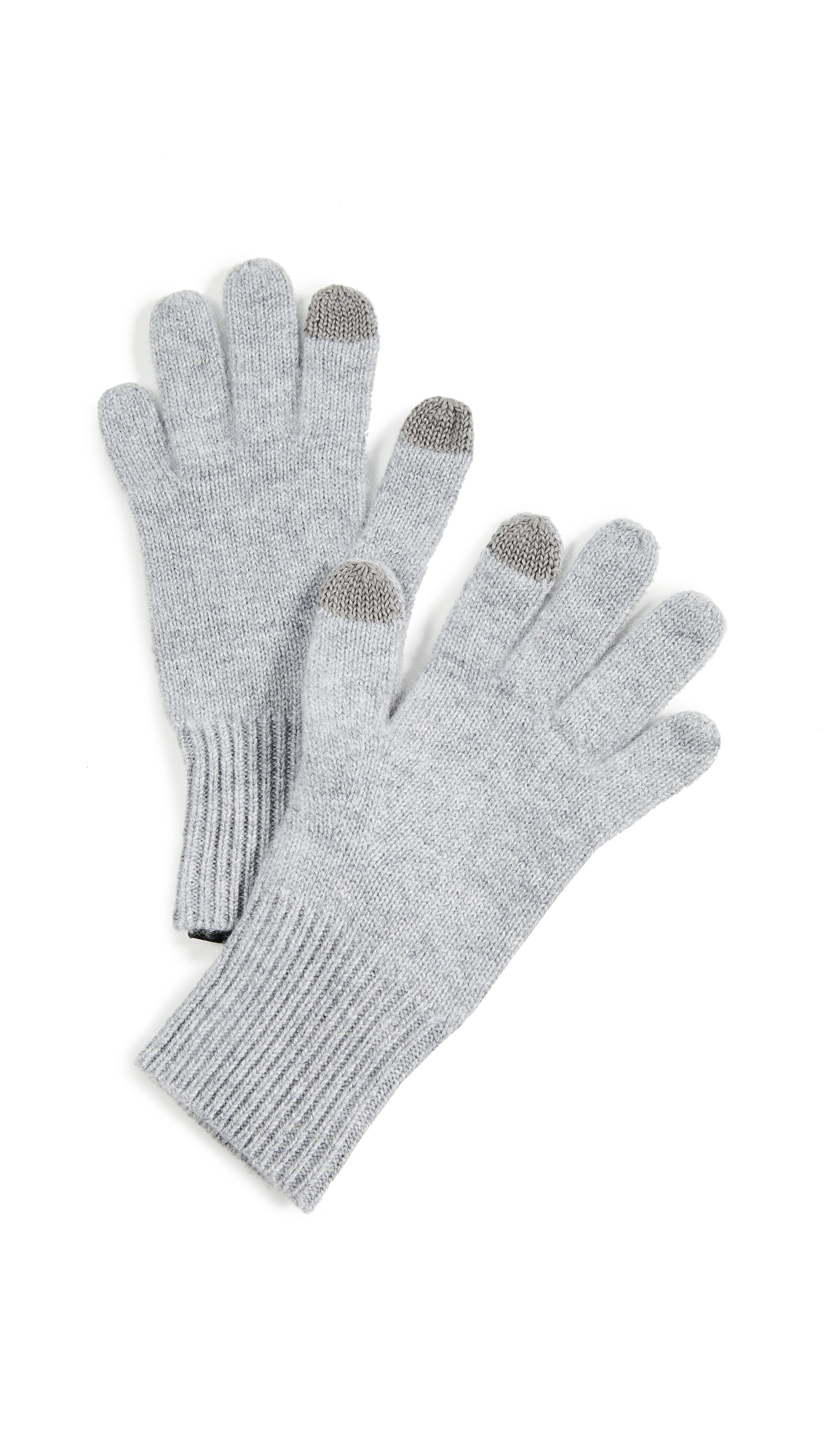 Rag & Bone Ace Cashmere Gloves In Heather Grey