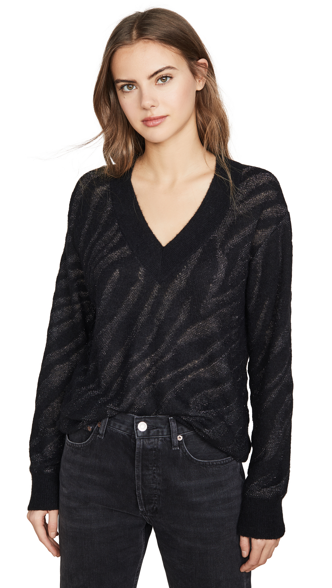 Buy Rag & Bone online - photo of Rag & Bone Germain Alpaca V Neck Sweater