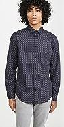 Rag & Bone Zac Dot Print Button Down Shirt