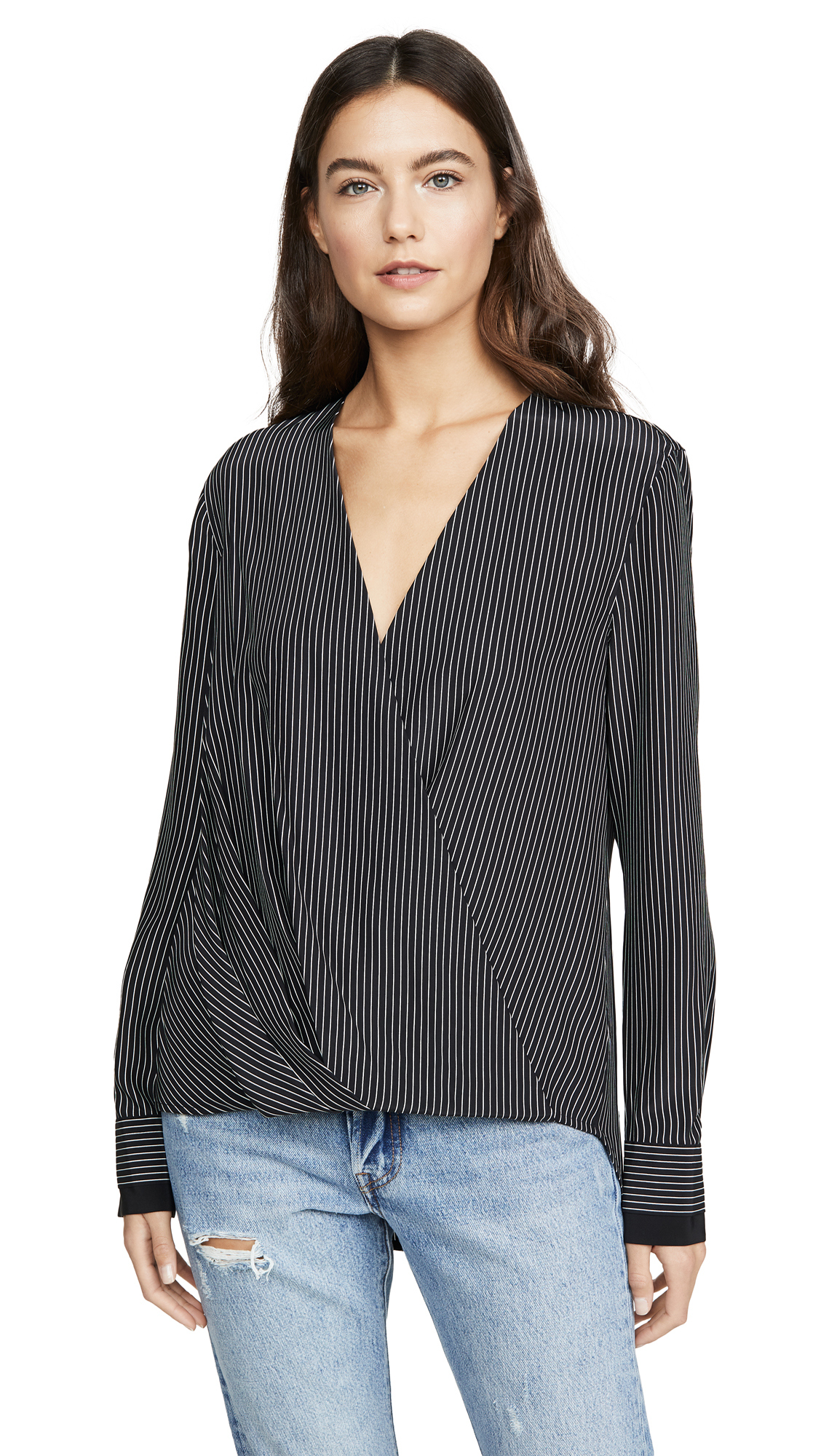 Buy Rag & Bone online - photo of Rag & Bone Victor Pinstripe Blouse