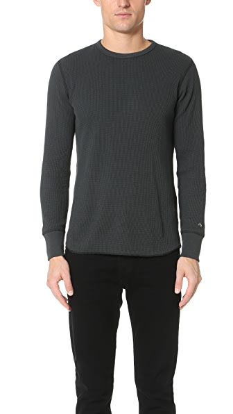 Rag & Bone Standard Issue Standard Issue Waffle Crew Pullover