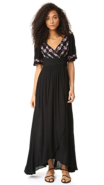 Rahicali Zahara Wrap Dress - Black