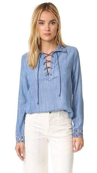 RahiCali Pandora Lace Up Shirt