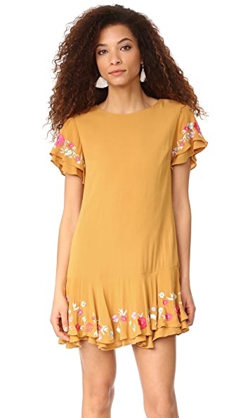RahiCali Poppy Ruffle Dress - Honey