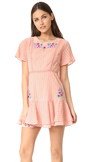 RahiCali Tropics Ruffle Dress