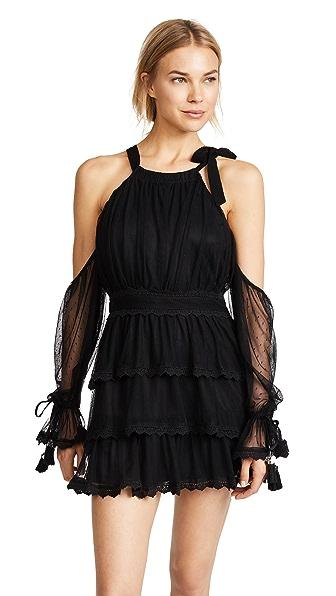 RahiCali Upstate Mesh Dress In Black
