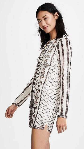RahiCali Everly Beaded Shift Dress