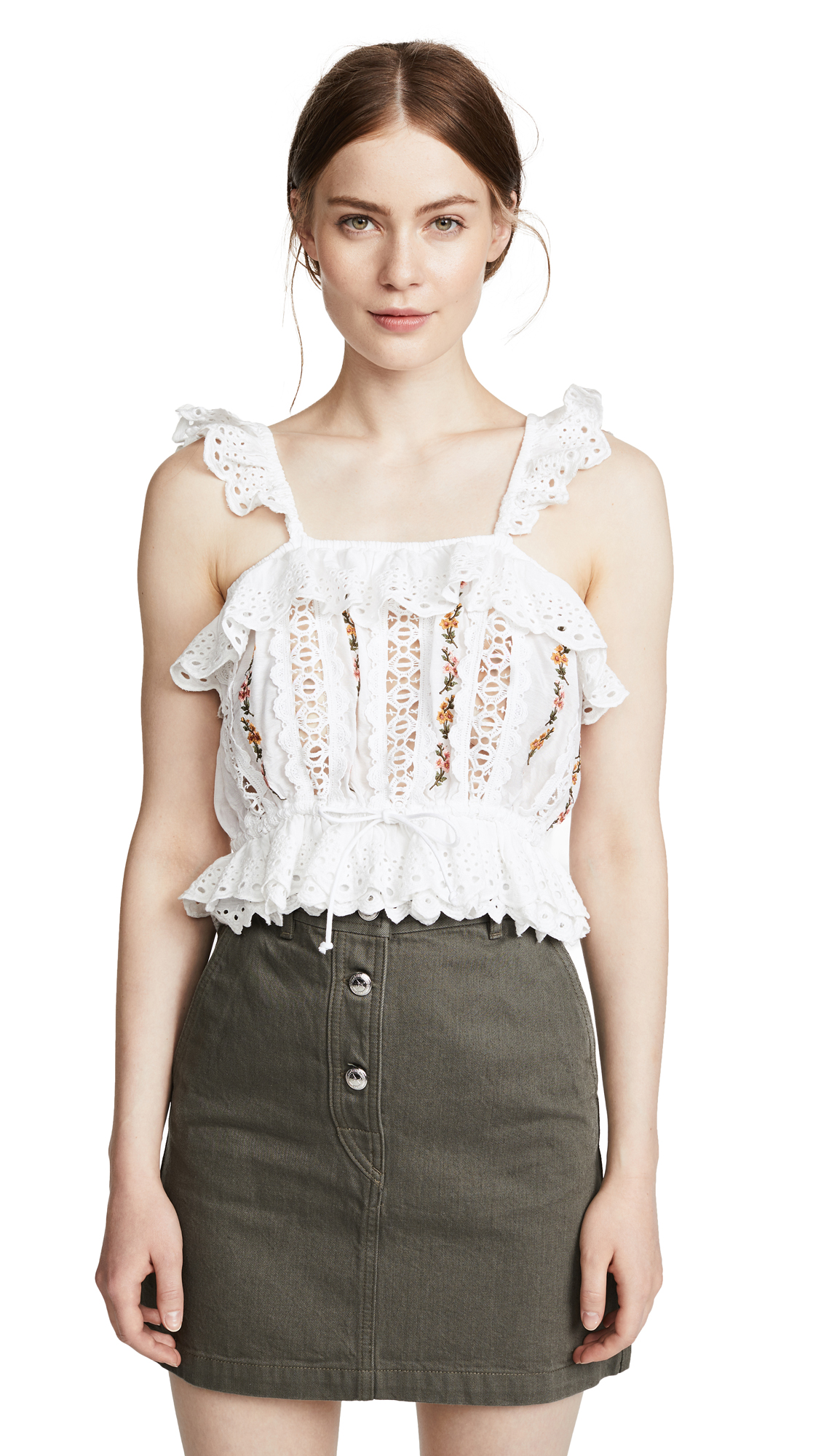 RAHICALI DREAMCATCHER EMBROIDERED TOP