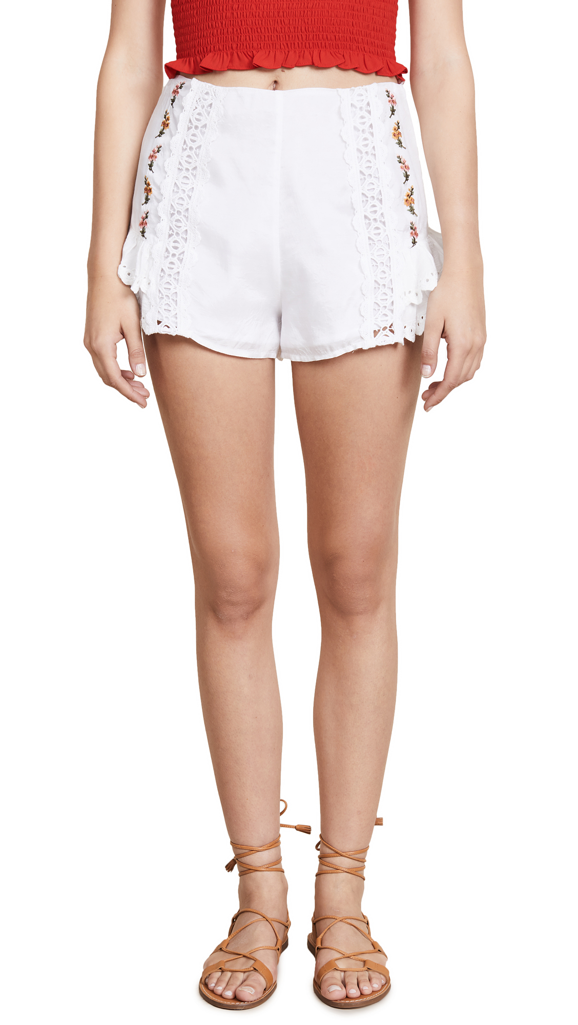 RAHICALI DREAMCATCHER EMBROIDERED SHORTS