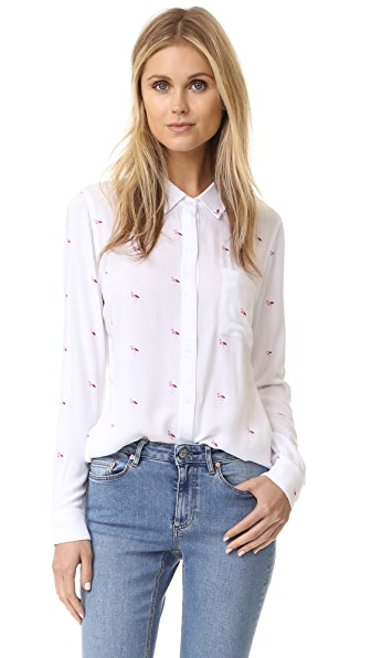 Rails Rosci Button Down Shirt - Pink Flamingo