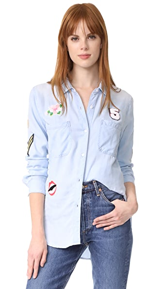 RAILS Carter Patches Button Down Shirt