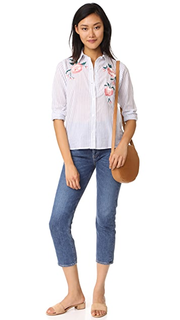 RAILS Nevin Embroidered Button Down