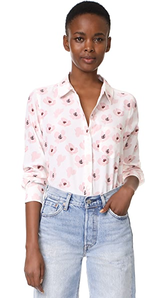RAILS Kate Button Down Shirt In Pink Poppies