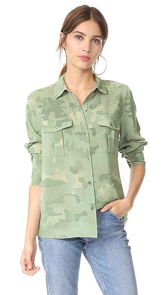 RAILS Rhett Button Down Shirt - Sage Camo