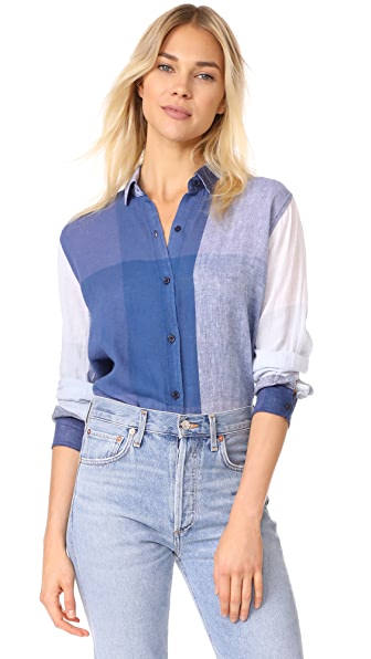 RAILS Charli Button Down Shirt In Portofino Plaid